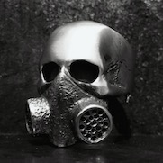 Gas mask Skull Ring