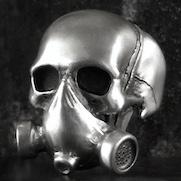 Gas mask Skull Ring