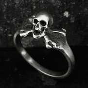 Tiny Skull Crossbones Ring