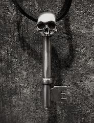 Half Skeleton Key Pendant