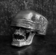 Blindfolded Skull Ring