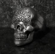 Mandala Skull Ring
