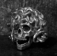Medusa Skull Ring