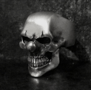 Small Joker Skull Ring