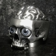 Medical Skull Ring with eyes