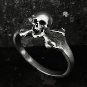 Tiny Skull Crossbones Ring