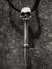 Half Skeleton Key Pendant