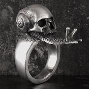 Snail Skull Ring