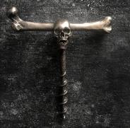 Skull wine opener Brass